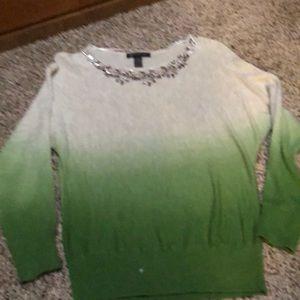 INC sweater jeweled collar